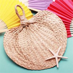 Palm Hand Wedding Favor Fans  - Love this idea for our outdoor ceremony!