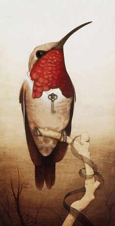 Surrealism and Visionary art: Tiffany Bozic Art And Illustration, Art Colibri, Art Visionnaire, Hummingbird Art, Photo D Art, Visionary Art, Surreal Art, Creatures, Sketches