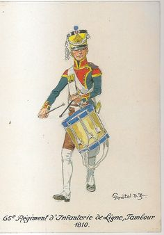Line Infantry, Drummer, 1810 Tambour, War Drums, Military Art, Military Uniforms, French Army, Napoleonic Wars, Ottoman Empire, American Revolution, African American History