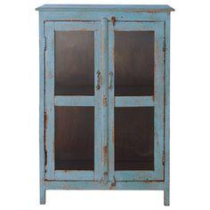 Aparador con vitrina azul ... - Avignon