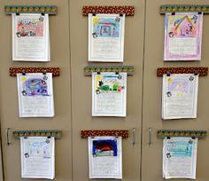 Mini cork boards to display student work
