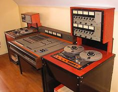 The new brand TASCAM starts out in 1974 with the Series The Model 8 track, and the model 2 track reel to reel tape recorders, with the Model 10 mixer. Multi-channel recording now becomes affordable to the lumpen proletariat! Recorder Music, Tape Recorder, Home Studio Desk, Recording Studio Design, Professional Audio, Recording Equipment, Studio Equipment, Vintage Records, Technology