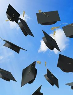 Graduation Hats in the Air | So much change is in the air right now. Spring is sizzling into summer ...