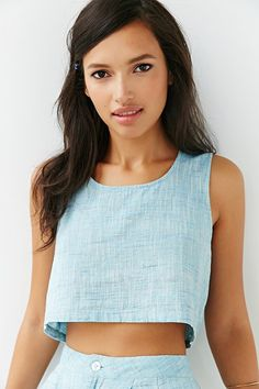 Mary Meyer Cropped Tank Top