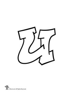 graffiti lowercase letter u