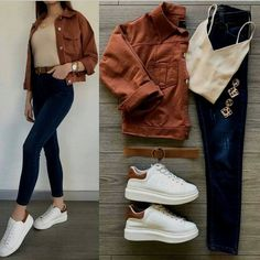 Outfits For School – Lady Dress Designs Look Fashion, Korean Fashion, Fashion Outfits, Fashion Women, Casual Work Outfits, Stylish Outfits, Teenager Fashion Trends, Mode Ootd, Hijab Stile
