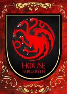 House Targaryen.  House Targaryen. Gallery quality print on thick 45cm / 32cm metal plate. Each Displate print verified by the Production Master. Signature and hologram added to the back of each plate for added authenticity & collectors value. Magnetic mounting system included.  EUR 44.00  Meer informatie