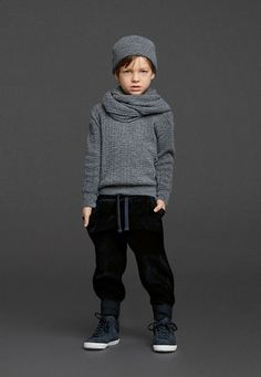 Luna Leggings Style | Here's a cool urban look for boys from Dolce & Gabbana kids.