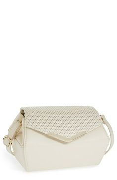 POVERTY FLATS by rian Perforated Crossbody Bag   Nordstrom