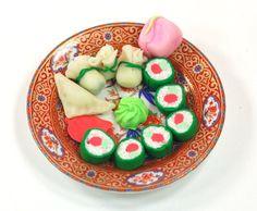 Adorable!!!!!!  Doll Food OOAK Sushi Set California Rolls by MiniareMiniatures, $19.00