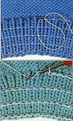 ways to add elastic to knit cuffs