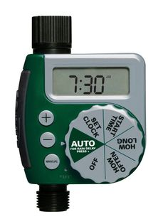 Waterproof Hose Timer with Timed Irrigation,Rain Delay,Manual Control and Child Lock,1-Outlet automatic Timer with 1 Faucet Adapter Automatic Watering Timer Quick Connector and 2 Rubber Rings 2019