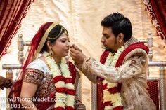 Indian Wedding Ceremony - Gujarati bride, South Indian groom - photography, cinematography, photobooth by PhotosMadeEz - at Park Ridge Marriott with caterer - Chand Palace, makeup - BridalByJyoti, DJ Suj, Mandaps by Dhoom, and Nobility Events. Featured in Maharani Weddings.