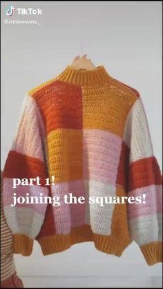 Mode Crochet, Diy Crochet, Crochet Crafts, Crochet Projects, Crochet Geek, Sweater Knitting Patterns, Crochet Cardigan, Hand Knitting, Knit Fashion