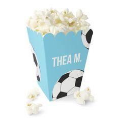 Håndball / Fotball - Lysblått Popcornbeger Magazine Rack, Popcorn, Caramel, Creative