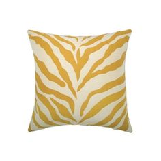 Elaine Smith Outdoor Pillow Zebra Gold (£105) ❤ Liked On Polyvore Featuring  Home