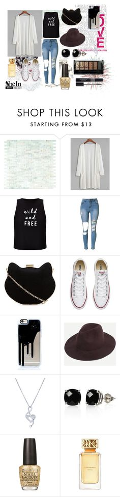 """""""She In Outfit"""" by leilani-huerta ❤ liked on Polyvore featuring WALL, Miss Selfridge, New Look, Converse, BERRICLE, Belk & Co., OPI, Christian Dior, Tory Burch and Boohoo"""