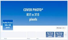 Tamaño para las nuevas imágenes de páginas de FaceBook...