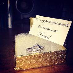 """Princess ring promposal! """"Every princess needs her crown at prom!"""""""