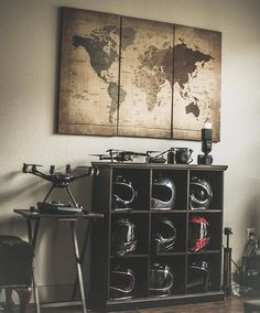 ideas for motorcycle shop decor interior design Motorcycle Shop, Motorcycle Garage, Decor Interior Design, Interior Decorating, Deco Cool, Ultimate Man Cave, Man Cave Home Bar, Trendy Home, House Design