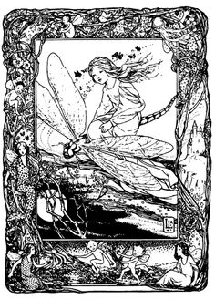 Gothic Fairy Coloring Pages For Adults - free coloring pages . Fairy Coloring Pages, Free Coloring Pages, Coloring Sheets, Coloring Books, Gothic Fairy, To Color, Zentangles, Line Drawing, Doodle Art