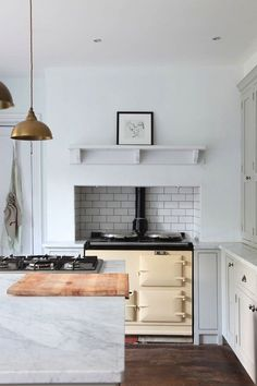 Minimalist kitchen with vintage appeal
