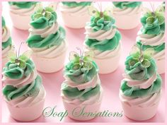 Hi there, these are just a few of my latest cupcake creations... I have so many soaps that i have finally mana...