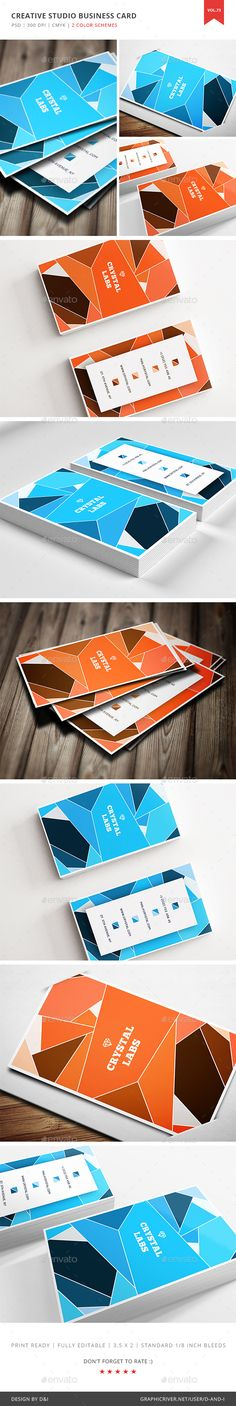 Creative Studio Business Card Template PSD. Download here: https://graphicriver.net/item/creative-studio-business-card-vol-73/17509537?ref=ksioks