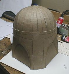 Picture of Filling in the dome (Star Wars Diy Costumes Boba Fett)