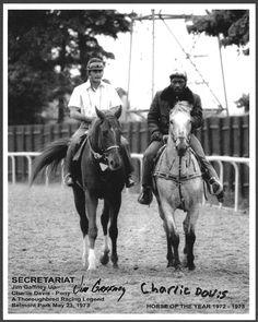 Secretariat with Jim Gaffney up