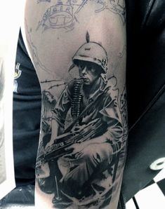 100 Military Tattoos For Men - Memorial War Solider Designs Army Tattoos, Warrior Tattoos, Military Tattoos, 3d Tattoos, Tattoo Ink, Forearm Tattoos, Tatoos, Small Tattoos With Meaning Quotes, Tattoos For Women Small