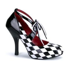 Pleaser Funtasma Harlequin 03 Black/White Checkered Shoes [Harlequin 03] - £39.99 : Heeler Dealers, High Heel Shoes | Pleaser Shoes | Bordello Shoes | Pin Up Couture | Funtasma