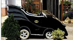Bat-scooter- :-) Batman mobility scooter. This would be my husband when he gets older. Haha.