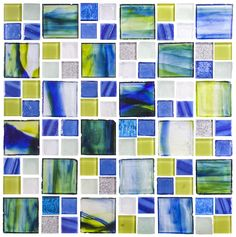The hallmark of Susan Jablon is creating unique glass mosaic tile design and blends. Design your very own glass tile blends with our Custom Mosaic Designer. Glass Mosaic Tile Backsplash, Mosaic Tile Designs, Mosaic Bathroom, Mosaic Glass, Stained Glass, Backsplash Ideas, Glass Tiles, Tile Ideas, Mosaic Art