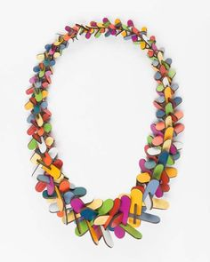Rebecca Hannon laminate (Formica) necklace