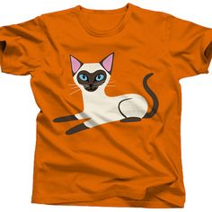 Siamese cat tee (lot