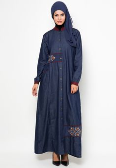 Denim Dress Aldiva-Gamis zalora.co.id