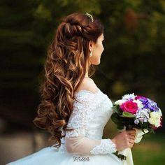 Bride hair style #excellent # gorgeously Gelin saç stili