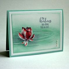 Stampin Up - Lotus Blossom Absolutely LOVE Jan's Lotus Blossom card!