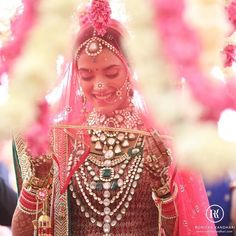 WIM Enjoyed and Liked on instagram from pinkorchidstudio: 'Happy girls are the prettiest girls' - Audrey Hepburn.  But this bridal jewelry is definitely a stunning complement to this beautiful bride!  We're obsessed!  #Repost @ronickakandhari  One of the prettiest happiest and smiley-est bride I have ever shot! (c) Ronicka Kandhari Photography || http://ift.tt/1L6AmBI  #happy #bride #beautiful #pretty #smile #love #instabride #wedding #instawedding #Indianbride #indianwedding…