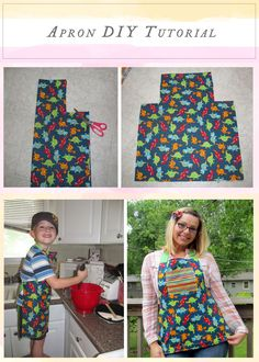 Apron #DIY Tutorial...perfect for my 4yo