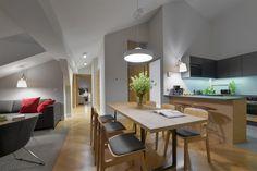 Gallery  Stradonia - elegant apartments in Krakow city   Stradonia  #livingroom #apartment #interior #night