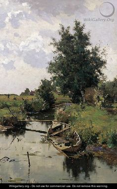 """Willem Bastiaan Tholen (1860-1931). Paysage Hollandais. Oil on canvas laid down on panel, 45.5 x 31 cm (17.91"""" x 12.2"""") in a Private Collection"""