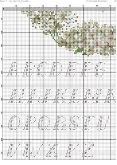 Cross Stitching, Cross Stitch Embroidery, Hand Embroidery, Cross Stitch Love, Cross Stitch Flowers, Wedding Cross Stitch Patterns, Needle And Thread, Needlework, Alphabet
