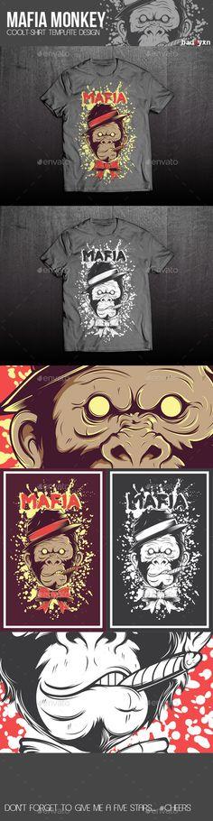 Mafia T-shirt Design Template  - Download: http://graphicriver.net/item/mafia-tshirt-template/10881066?ref=ksioks