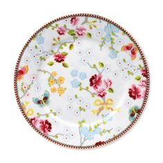 Discover the Pip Studio Chinese Rose White Plate - 21cm at Amara