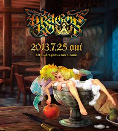 View an image titled 'Drunk Fairy Promo Art' in our Dragon's Crown art gallery featuring official character designs, concept art, and promo pictures. Character Drawing, Character Concept, Concept Art, Character Design, Crown Art, Dragons Crown, Fairy Art, Banner Design, Female Characters