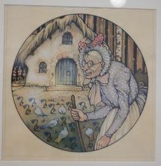 Vrouw Holle, de Efteling - Anton Pieck Anton Pieck, Dutch Painters, Famous Art, Dutch Artists, Old Art, Illustrators, Fairy Tales, Drawings, Artwork