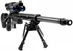 Anyone can be a sniper... for $22,000. Hold trigger down and when your on target it electronically fires for you, WOW!!!