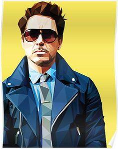 Robert Downey Jr - Low Poly Vector Art Throw Pillow by khitkhat - Cover x with pillow insert - Indoor Pillow Iron Man Wallpaper, Marvel Wallpaper, Tony Stark Wallpaper, Marvel Heroes, Marvel Avengers, Captain Marvel, Iron Man Avengers, Robert Downey Jr., Ironman